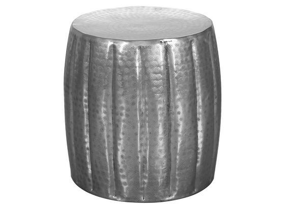 Beistelltisch Aus Handarbeit Jamal Silberfarben - Silberfarben, LIFESTYLE, Metall (38/38/42cm) - Livetastic