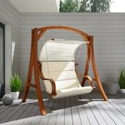 Hojdačka Wave - hnedá/béžová, Moderný, kov/drevo (195/204/128cm) - Mömax modern living