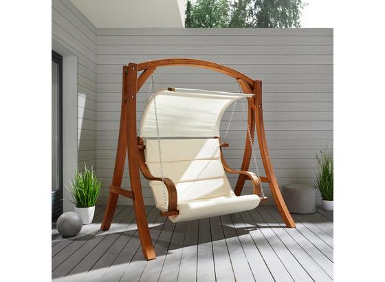 Hojdačka Wave - přírodní barvy/barvy modřínu, Moderní, kov/dřevo (195/204/128cm) - Mömax modern living