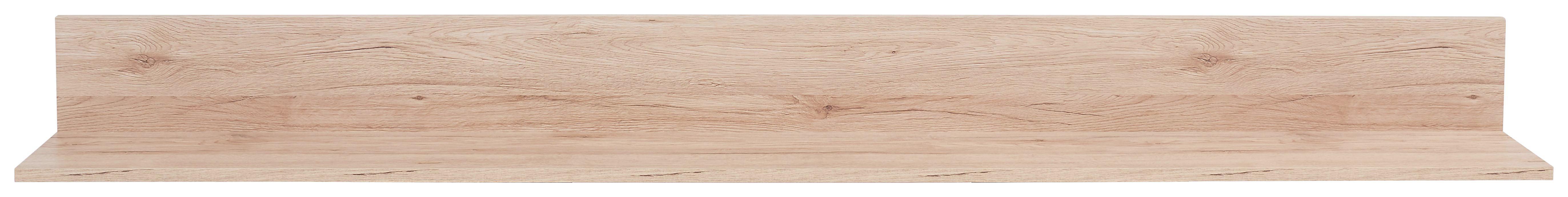 Falipolc Malta - tölgy színű, modern, faanyagok (180/18/20cm)