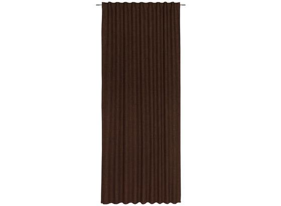 Závěs Leo -top- - hnědá, textil (135/255cm) - Premium Living