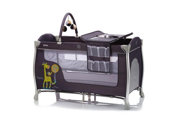 Reisebett Alu-Travel Cot Supreme Grau - Dunkelgrau, Basics, Kunststoff/Metall (60/120cm) - Fillikid