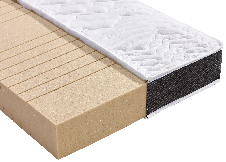 Kaltschaummatratze Homestar Plus H3 180x200 - Weiß, Textil (180/200cm) - PRIMATEX