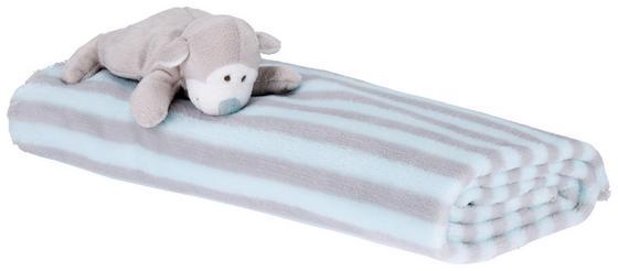 Přikrývka Dětská Animal -ext- - růžová/světle modrá, textil (90/75cm) - Mömax modern living