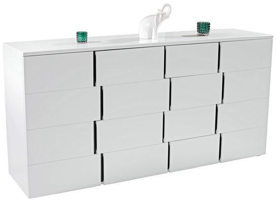 Komoda Split 3t4l - bílá/černá, Moderní, kompozitní dřevo (200/90/42cm)