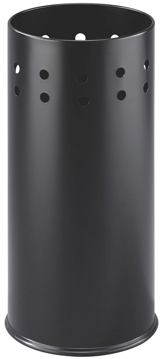Stojan Na Dáždnik Lonati 2 - čierna, Moderný, kov (23,5/50cm)