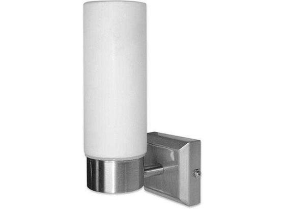 Wandleuchte Nickel Matt - Weiß, KONVENTIONELL, Glas/Metall (8cm)