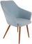 Stuhl Betty Hellblau - Braun/Hellblau, MODERN, Textil/Metall (51/86/55cm) - Ombra