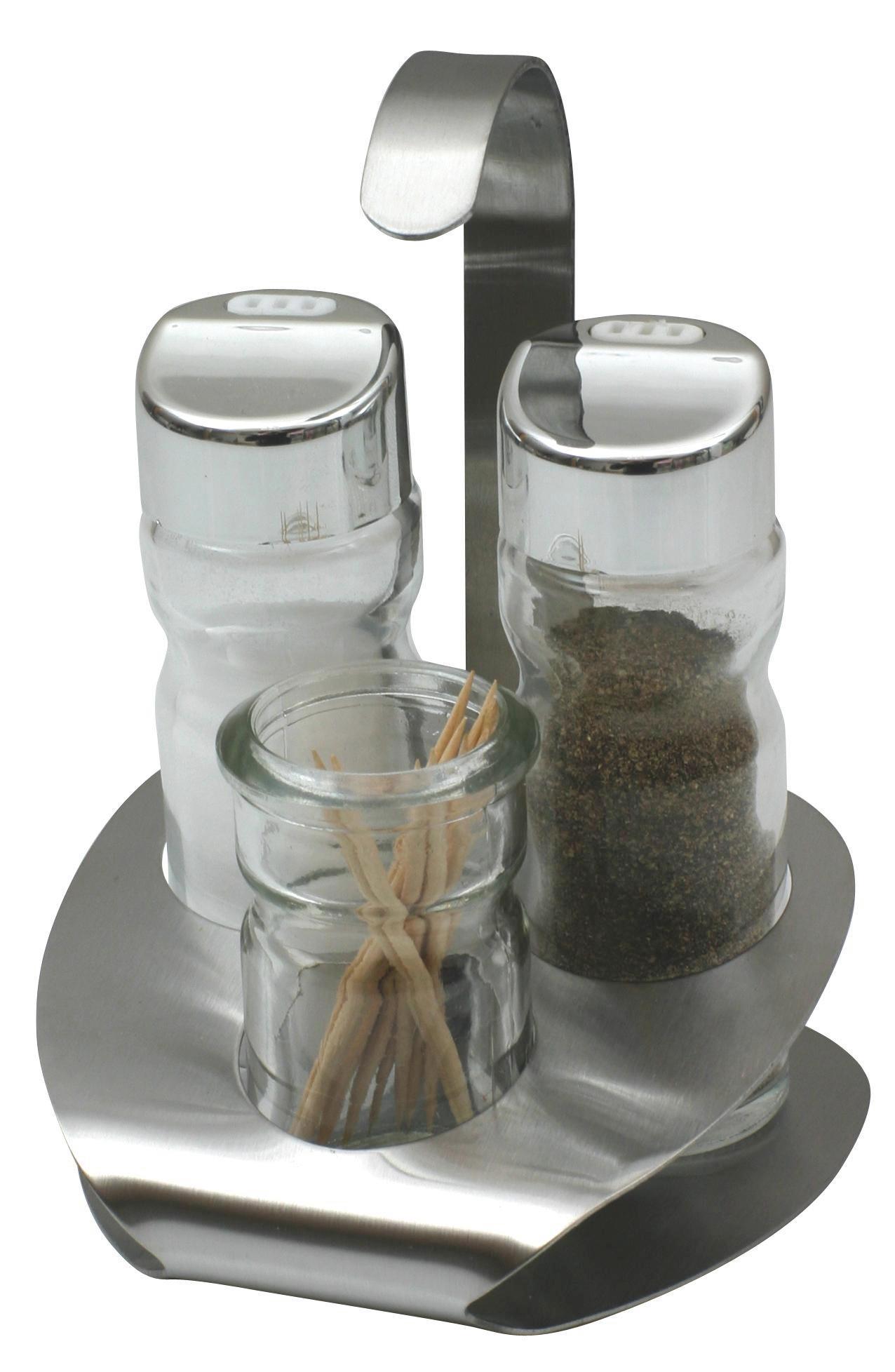 Só- És Borsszoró Lindi - juhar színű, üveg (10*9*14cm)