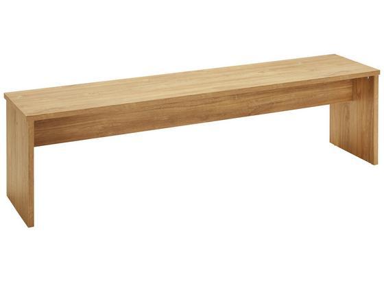 Sedacia Lavica Leonardo - farby dubu, Moderný, kompozitné drevo (160/45/37cm) - Modern Living