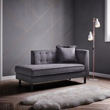Chaiselongue Viola - tmavě šedá, Moderní, kov/dřevo (157/74/71cm) - Modern Living