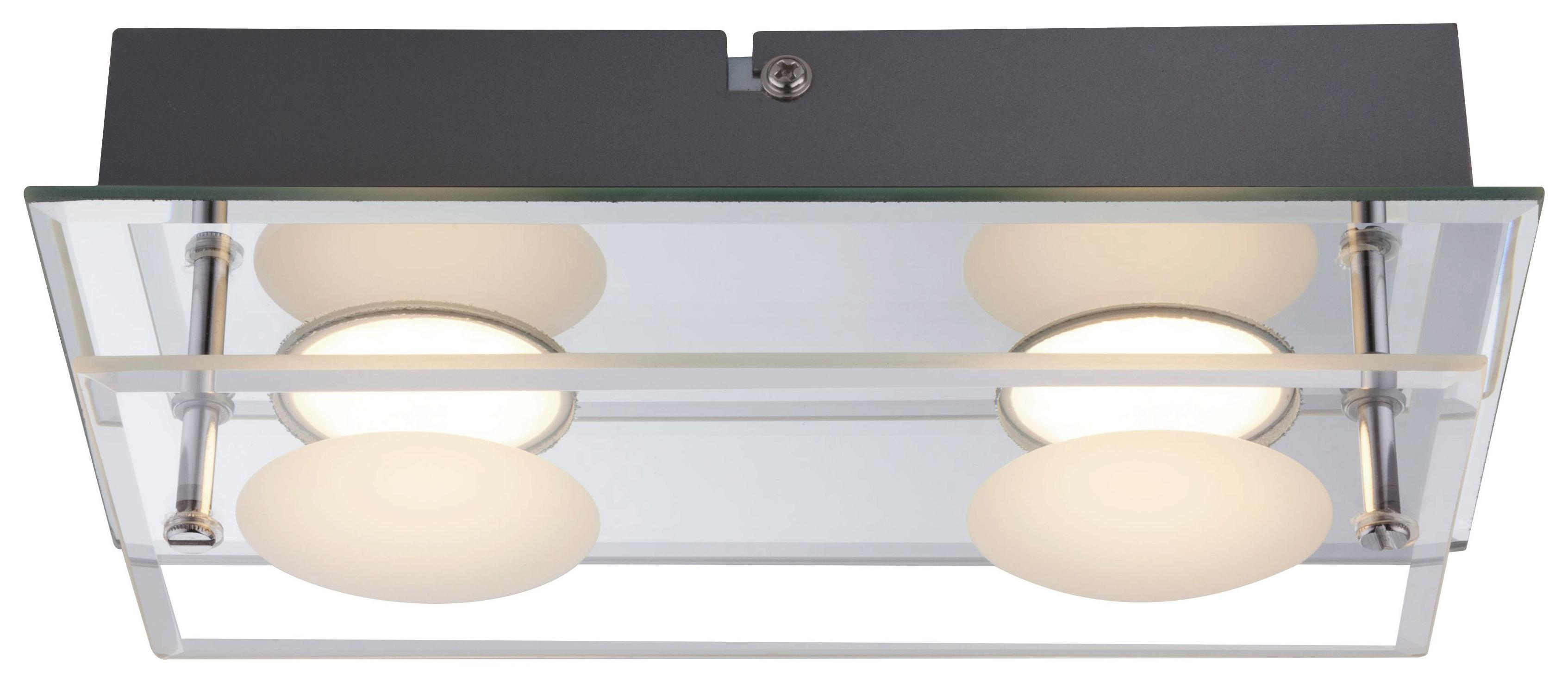 LED möglich Deckenleuchte 65cm Stahl Holz Design Deckenlampe Wandlampe E14
