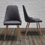 Židle Beatrix - barva teak/tmavě šedá, Moderní, kov/textil (50/92/57cm) - Mömax modern living
