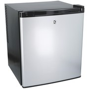 Minikühlschrank Cuisinier Deluxe - Alufarben/Schwarz, MODERN, Metall (41/43/51cm)