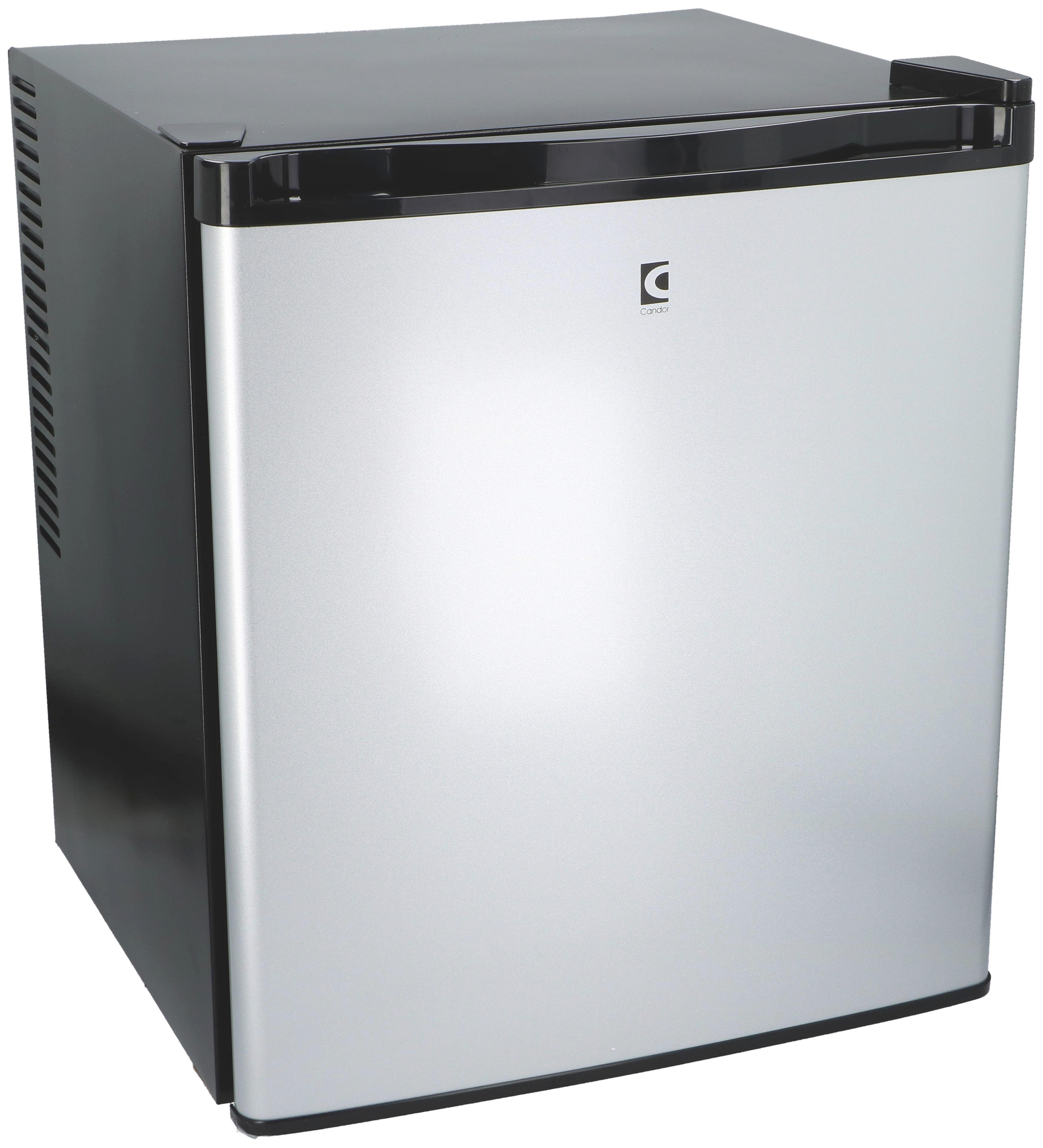 Minikühlschrank in Schwarz und Alufarben