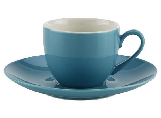 Šálka Na Espresso S Podšálkou Sandy - modrá, Konvenčný, keramika (6,4/5cm) - Mömax modern living