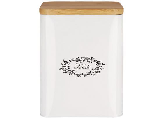 Box S Víkem Lore - bílá, Romantický / Rustikální, kov/dřevo (18/15,5/23cm) - Zandiara