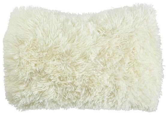 Díszpárna Carina - fehér, modern, textil (30/50cm)