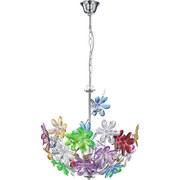 Hängeleuchte Rainbow - Multicolor, KONVENTIONELL, Kunststoff/Metall (38/135cm)