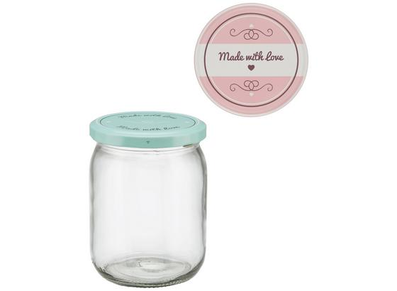 Zavárací Pohár Rosie - ružová/mätovozelená, kov/plast (8,8/11,9cm)