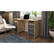 Schreibtisch Loop B: 138 cm Eichefarben - Eichefarben/Anthrazit, Basics, Holzwerkstoff (138/75/55cm) - MID.YOU