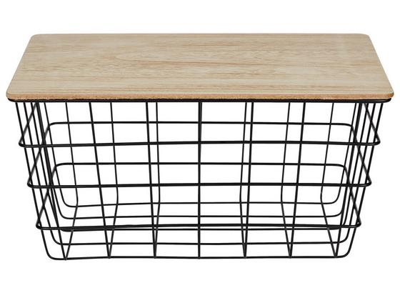 Regalkorb Industrial Living - LIFESTYLE, Holz/Metall (31/21/15.5cm)