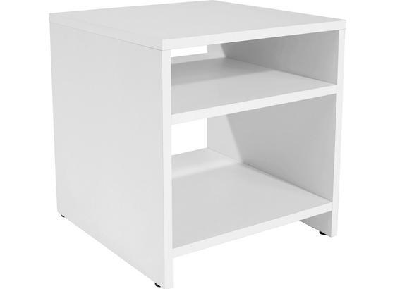 Odkladací Stolík Luca Lct01 - biela, Moderný, kompozitné drevo (40/40/37cm)