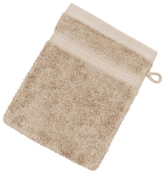 Waschlappen Anke - Beige, Basics, Textil (16/21cm) - Luca Bessoni