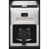Filterkaffeemaschine Km442d - Edelstahlfarben/Schwarz, Basics, Kunststoff/Metall (24/36/29cm) - Krups