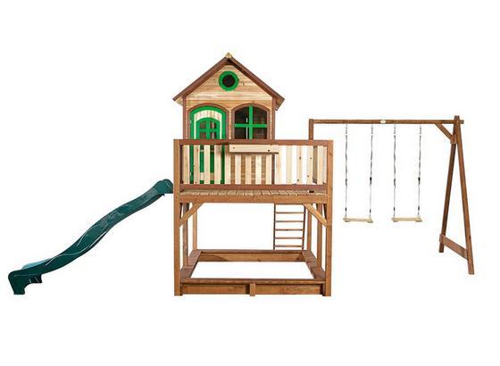 Domček Na Hranie Axi Liam - hnedá, drevo (588/305/270cm)