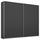 Schwebetürenschrank 226cm Belluno, Grau Metallic Dekor - Dunkelgrau, MODERN, Holzwerkstoff (226/210/62cm)