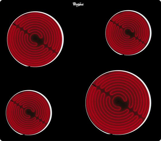 Whirlpool Glaskeramik-Kochfeld Akt 109 Ne - Schwarz, MODERN, Glas (58/51cm) - Whirlpool