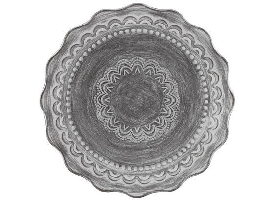 Talíř Dekorační Sarah - šedá/bílá, kompozitní dřevo (35cm) - Mömax modern living