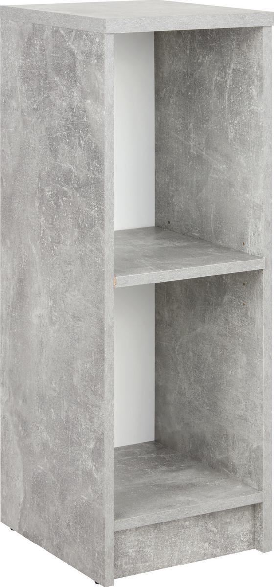 Regal 4-You New YUR04 - Schwarz/Weiß, MODERN, Holzwerkstoff (30/85,5/34,6cm)