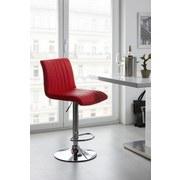 Barhocker Party Rot - Chromfarben/Rot, MODERN, Textil/Metall (43/91-112/54cm) - LUCA BESSONI