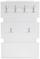 Garderobenpaneel Moya - Weiß, MODERN, Holzwerkstoff/Kunststoff (70/99/2cm)