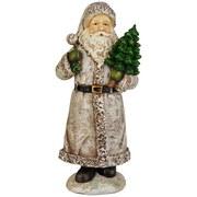 Weihnachtsmann Barent - Weiß/Grau, KONVENTIONELL, Kunststoff - Ombra