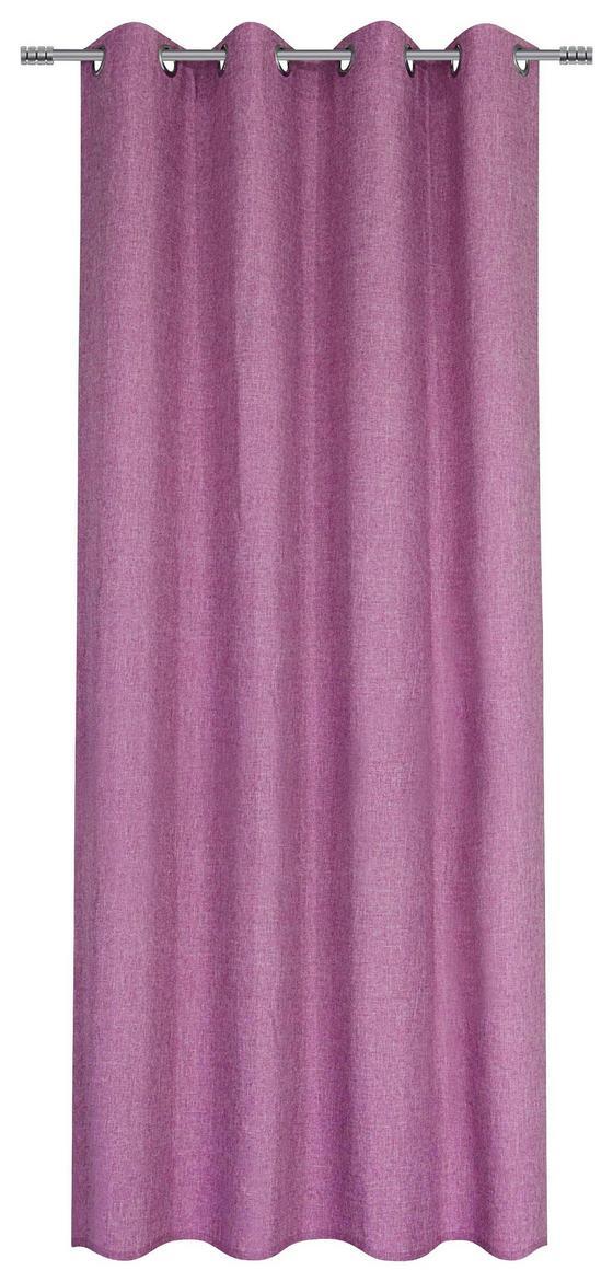 Ösenvorhang Anna - Altrosa, KONVENTIONELL, Textil (140/245cm) - Ombra