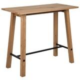 Bartisch Stockholm B: 60 cm Eichefarben - Eichefarben/Schwarz, Design, Holz/Metall (120/60/105cm) - Carryhome