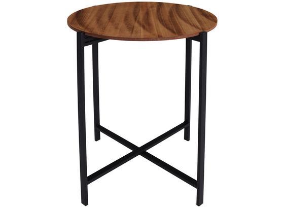 Beistelltisch Industrial D: 47cm Mangoholz - Schwarz/Braun, MODERN, Holz/Metall (47/52cm)