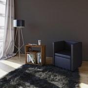 Beistelltisch Zeito B: 50 cm - Nussbaumfarben/Schwarz, Basics, Holzwerkstoff (50/55/30cm)