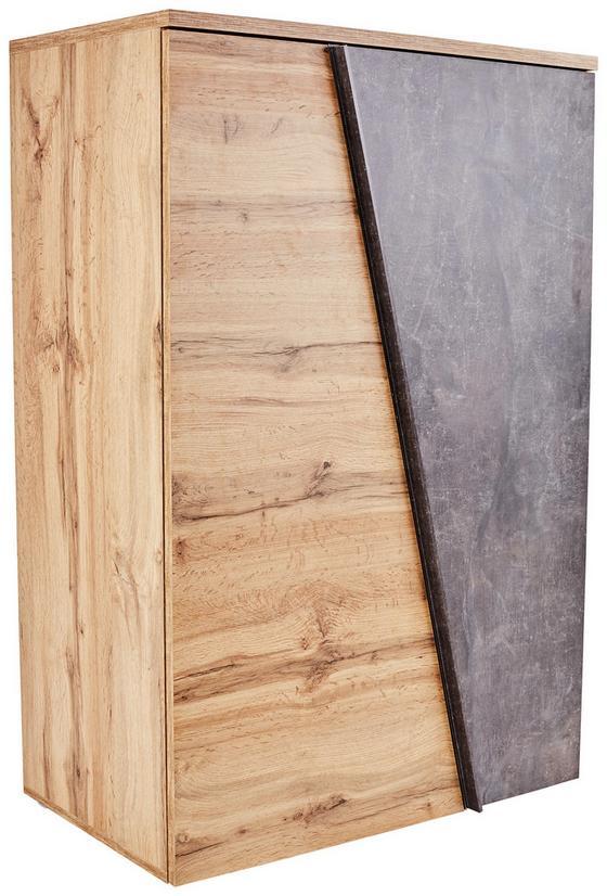 Komoda Venedig - farby dubu/sivá, Moderný, kompozitné drevo (90 121,5 40cm)