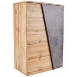 Komoda Venedig - šedá/barvy dubu, Moderní, dřevěný materiál (90/121,5/40cm)