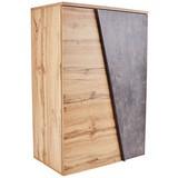 Komoda Venedig - šedá/barvy dubu, Moderní, kompozitní dřevo (90/121,5/40cm)
