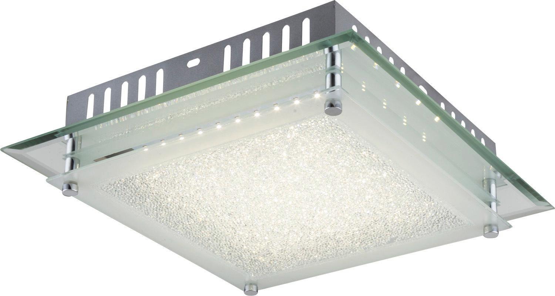Led Stropná Lampa Chris - biela/farby chrómu, Moderný, kov/sklo (28/7cm) - MÖMAX modern living