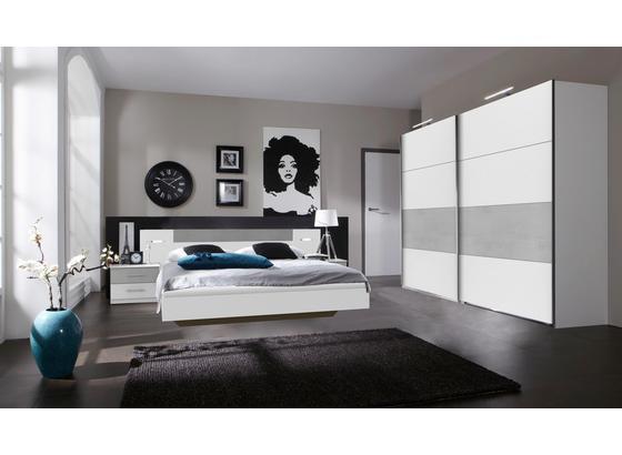 Schlafzimmer Mit Bett Kasten Und Nachtkommoden