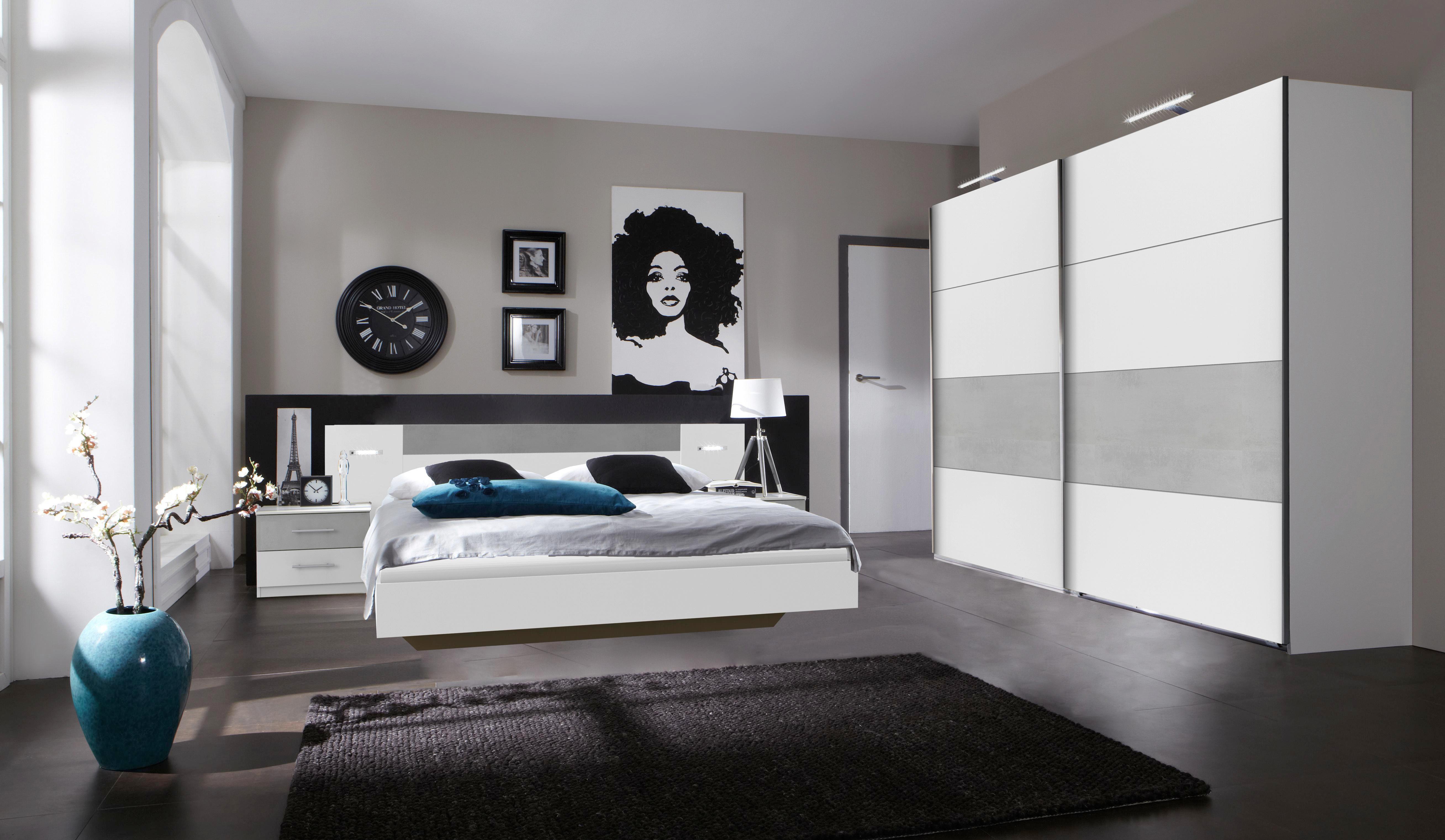 Schön Schlafzimmer Angie   Hellgrau/Weiß, MODERN, Holzwerkstoff (518/208/210cm