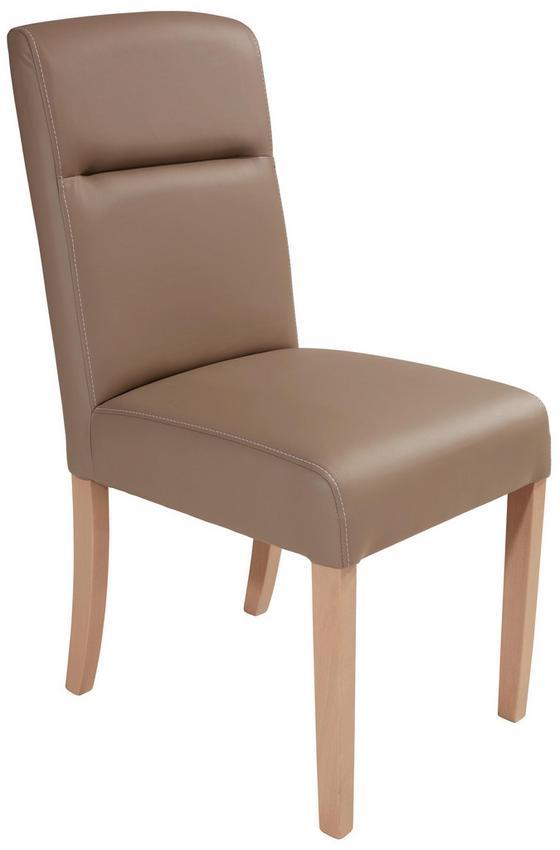 Židle Cara - jílová barva/béžová, Moderní, dřevo/umělá hmota (44,5/93/53cm)