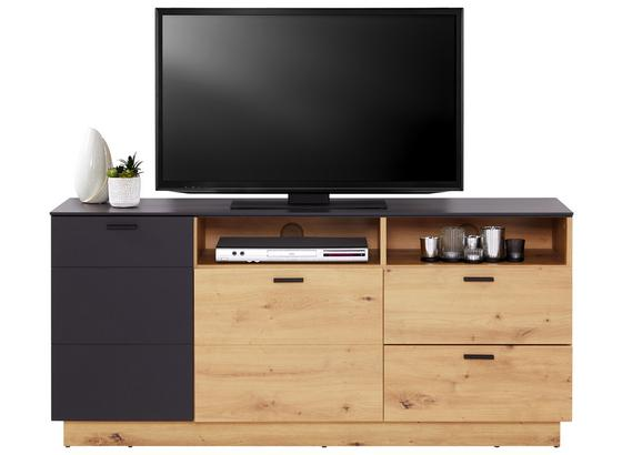 TV-Element Tonale - Eichefarben/Grau, MODERN, Holzwerkstoff (146,8/68,6/40cm)