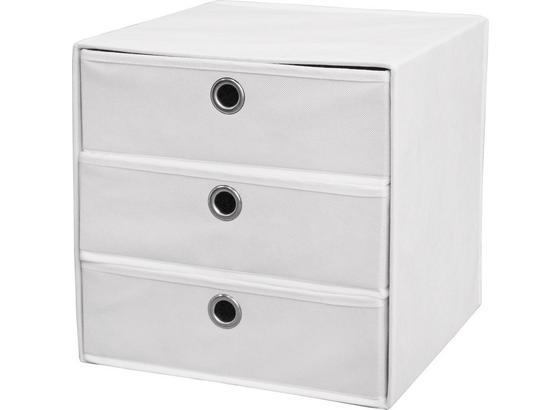 Zásuvkový Box Lisa - biela, Moderný, kov/textil (32/32/32cm)